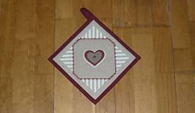 Úžitkový textil - Chňapka so srdiečkom (3) - 9138875_
