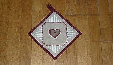Úžitkový textil - Chňapka so srdiečkom - 9138875_