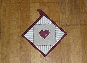Úžitkový textil - Chňapka so srdiečkom (4) - 9138929_