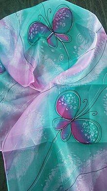 Šatky - motýle - 9136982_