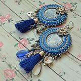 Náušnice - 4 francs  -  náušnice v Bohemian stylu - 9137500_