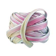 Galantéria - Hodvábna stuha Shibori Silver lining Borealis - 9135175_