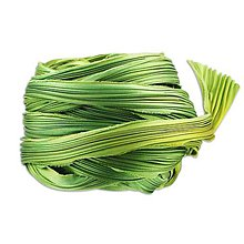 Galantéria - Hodvábna stuha Shibori Spring green Borealis - 9135204_