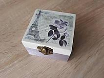 Krabičky - Drevená krabička - šperkovnica - Paris 2 - 9135579_