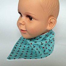 Detské doplnky - nákrčník trojuholník  (s kotvami) - 9138496_