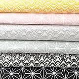 Textil - žlté vlnky; 100 % bavlna Nemecko, šírka 140 cm, cena za 0,5 m - 9137131_