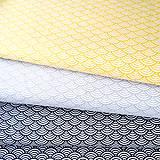 Textil - žlté vlnky; 100 % bavlna Nemecko, šírka 140 cm, cena za 0,5 m - 9137133_