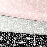 Textil - čierne origami; 100 % bavlna Francúzsko, šírka 160 cm, cena za 0,5 m - 9137846_