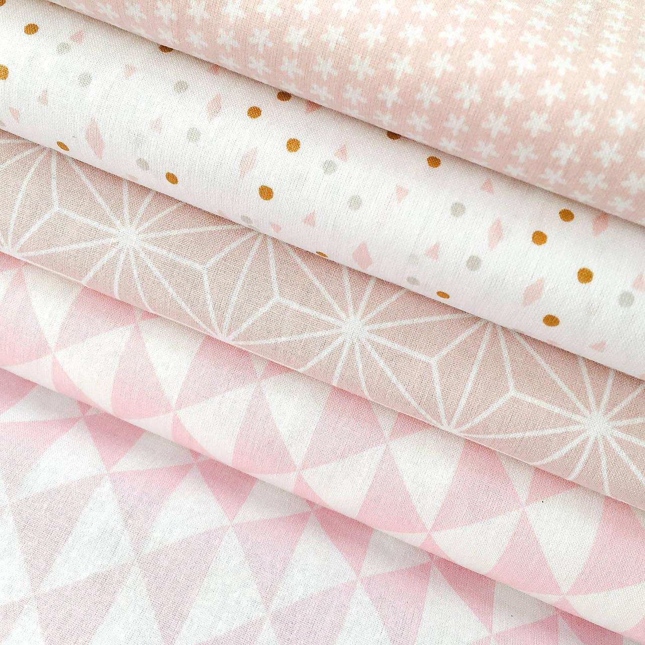 pastelové minitvary; 100 % bavlna Francúzsko, šírka 160 cm, cena za 0,5 m
