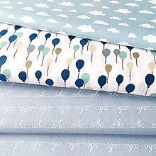 Textil - balóny; 100 % bavlna Francúzsko, šírka 140 cm, cena za 0,5 m - 9137226_