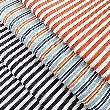 Textil - červeno-modré prúžky; 100 % bavlna Francúzsko, šírka 160 cm, cena za 0,5 m - 9137864_