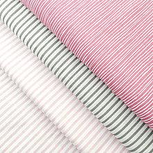 Textil - sýtoružové pásiky; 100 % bavlna Nemecko, šírka 140 cm, cena za 0,5 m - 9137865_