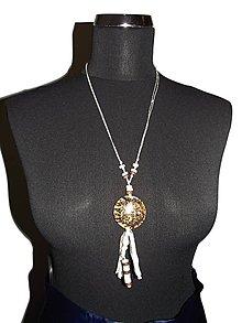 Náhrdelníky - viazaný náhrdelník - 9136212_