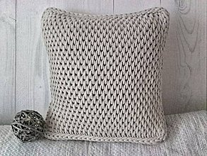 Úžitkový textil - Vankúš Nordic Day chladná béžová - 9135923_