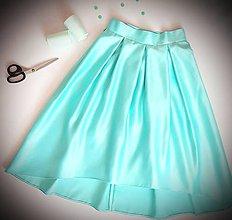 Sukne - Satenova sukňa v asymetrickej dĺžke - 9136214_