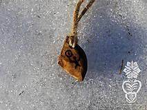 Náhrdelníky - Severské postavičky (Šaman - drieň) - 9134618_
