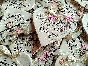 Darčeky pre svadobčanov - svadobné vintage magnetky - 9136893_