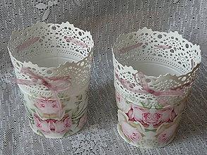 Nezaradené - Romantický květináček vintage roses - 9138606_