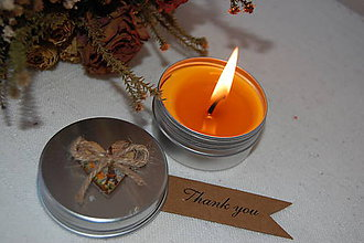 Svietidlá a sviečky - Sviečka v kovovej dóze - 9134874_