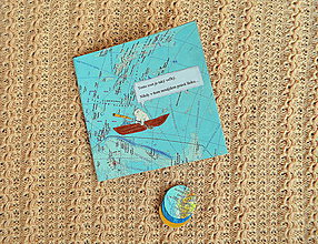 Papiernictvo - Romantický set - pohľadnica a prívesok - 9134620_