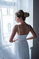 Šaty - Svadobné šaty z krajky na ramienka so šifónovou vlečkou rôzne vzory - 9138001_