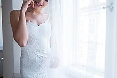 Šaty - Svadobné šaty z krajky na ramienka so šifónovou vlečkou rôzne vzory - 9138020_