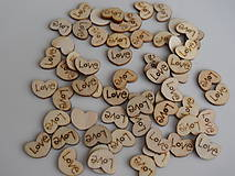 Drevené srdiečko Love