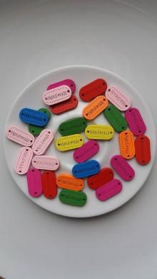 Galantéria - Farebné štítky - Handmade - 9135246_