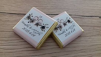 Darčeky pre svadobčanov - Svadobná čokoládka - 9138858_