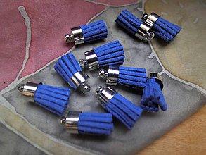 Polotovary - Mini strapčeky - pár (Modrá) - 9138181_
