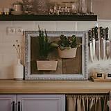 Nádoby - Rám na bylinky a iné rastlinky - predaný - 9135086_