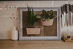 Nádoby - Rám na bylinky a iné rastlinky - predaný - 9135094_