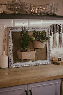 Nádoby - Rám na bylinky a iné rastlinky - predaný - 9135092_