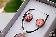 Sady šperkov - Škoricovo-oranžová sada sklenených šperkov - 9134804_