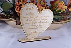 Darčeky pre svadobčanov - Poďakovanie Rodičom srdce 52 - 9135570_
