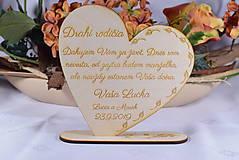 Darčeky pre svadobčanov - Poďakovanie Rodičom srdce 51 - 9135580_