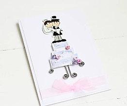 Papiernictvo - svadobná pohľadnica - 9137190_