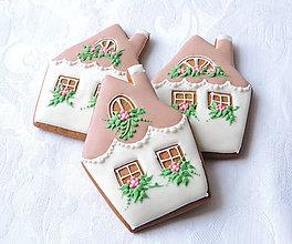 Dekorácie - Medovníkový rozkvitnutý domček malý - 9141197_