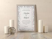 Papiernictvo - Tlačené svadobné oznámenie Biela pani - 9139266_
