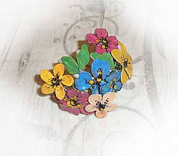 Náramky - lel,náramok color flowers23 - 9140559_