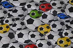 - Látka Futbalové lopty farebné  - 9143098_