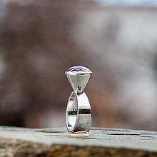 Prstene - Strieborný prsteň - Kužeľ - 9140953_