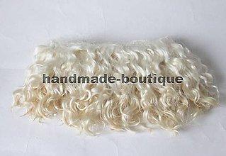 Materiál ručne robený - Vlasy pre bábiky - mohér blond - 9143210_