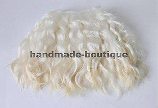 Materiál ručne robený - Vlasy pre bábiky - mohér blond - 9143232_