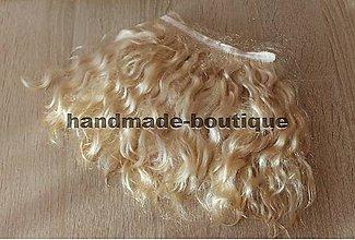 Materiál ručne robený - Vlasy pre bábiky - mohér pšenica - 9143245_