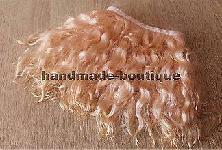 Materiál ručne robený - Vlasy pre bábiky - mohér šampagne - 9143250_