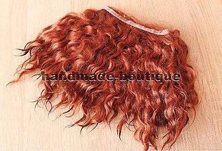 Materiál ručne robený - Vlasy pre bábiky - mohér škorica - 9143256_