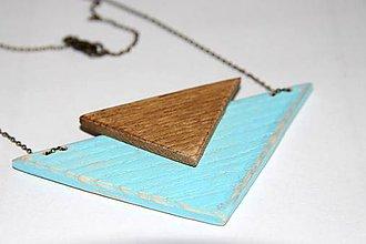 Náhrdelníky - Náhrdelník z dreva modrý - 9142341_