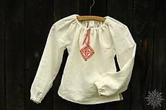 Detské oblečenie - Košieľka dievčenská ľanová Svetluška - 9140976_