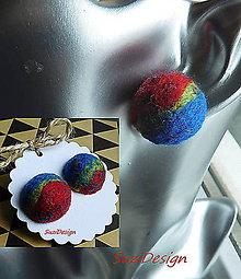 Náušnice - retro napichovačky farebnice vypuklé / 35mm - 9139267_